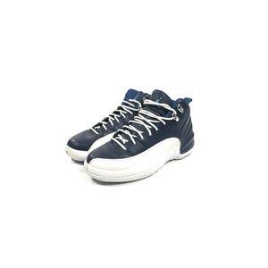 Kid's Air Jordan 12 Retro Obsidian Blue Size 6Y